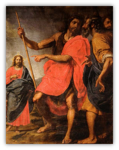 St. John the Baptist points out Christ to St. Andrew