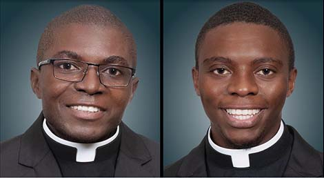 John Fimmuchime (on the left) and Christian Nyuykonge