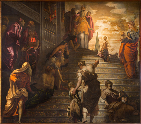 """The Presentation of the Virgin in the Temple"" Jacopo Tintoretto"
